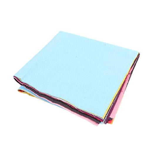 EXCEART 7 Piezas Colores Lisos Algodón Artesanal Tela Lino Paquete Cuadrados Patchwork Costura Diy Scrapbooking Acolchado 50X50cm Grupo B