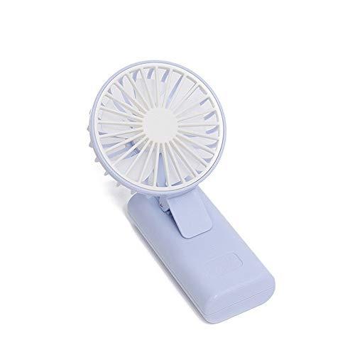 JZUKU Ventilador de Mano Clip De Mano del USB del Ventilador, Ventilador Silencioso En Pequeño Estudiante Compartida De Carga Portátil Ventilador