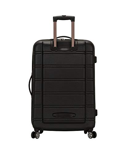 Rockland Luggage 20 Inch and 28 Inch 2 Piece Expandable Spinner Set, Black, One Size