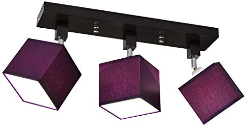 Deckenlampe - HausLeuchten LLS319DPR, Deckenleuchte, Leuchte, Lampe, 3-flammig, Massivholz