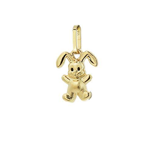 Colgante de conejo NKlaus pequeño 11mm niños niña 333 8 quilates oro amarillo damas 9261