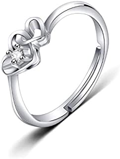 Woman's Ring Adjustable Free Size, Double Heart Ring High Polish Comfort Fit Birthday Graduation Valentine Day, Women's Day, Monther's Day