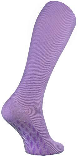 Rainbow Socks - Hombre Mujer Calcetines Largos Antideslizantes Sin Elásticos - 1 Par - Morado - Talla 36-38