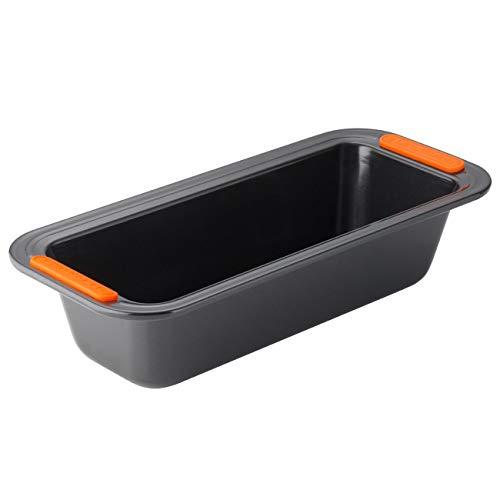 Le Creuset Antihaft Kastenform, Rechteckig, 30 x 11,5 x 7 cm, PFOA-frei, Sauerteigbeständig, Aus Karbonstahl gefertigt, Anthrazit/Orange