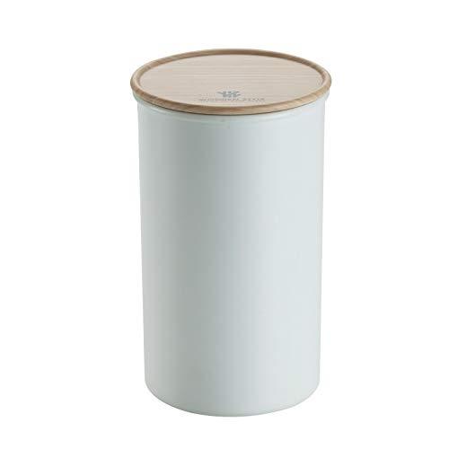 Tarros cocina Cajas de almacenamiento de cerámica con cubierta de madera, la tapa de madera de caucho hermético, recipientes de almacenamiento, recipientes de almacenamiento de alimentos botes cristal