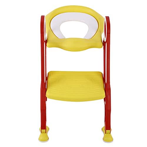 lyrlody Toilettensitz faltbarer Kinder-Toilettensitz verstellbarer Sicherheitstopf-Trainingssitz Baby Kleinkind Toilettenstuhl mit rutschfester Trittleiter Toil
