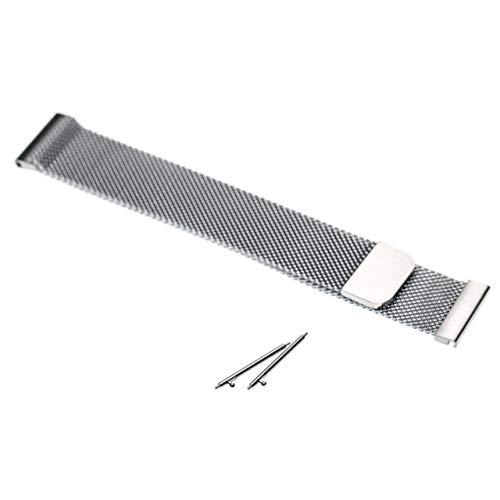 vhbw Ersatz Armband passend für Samsung Galaxy SM-R810, Watch 42 mm Fitness Uhr, Smart Watch - 20mm Edelstahl Silber Magnetverschluss