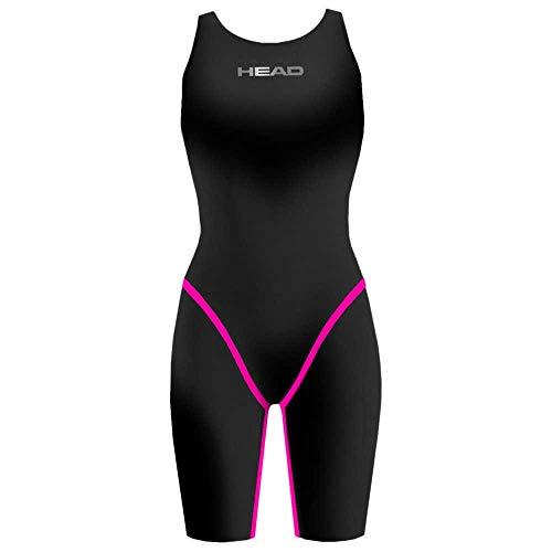 Head SWS Liquidfire Power XT Lady Open Back Traje De Baño, Mujer, Black-Pink, 38
