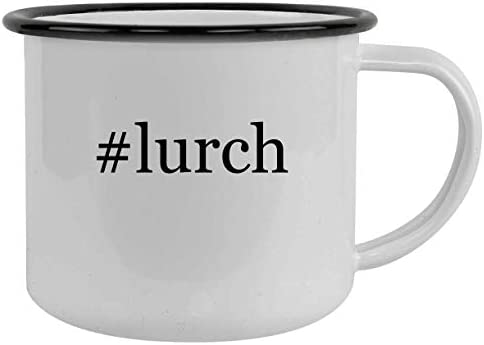 lurch 12oz Hashtag Camping Mug Stainless Steel Black product image