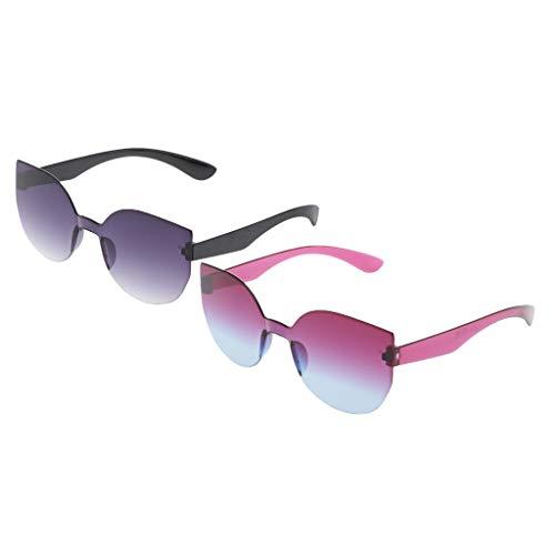 Colcolo 2X Gafas de Sol de Ojo de Gato Vintage Retro Clásico con Monturas de Lentes Tintadas Gafas
