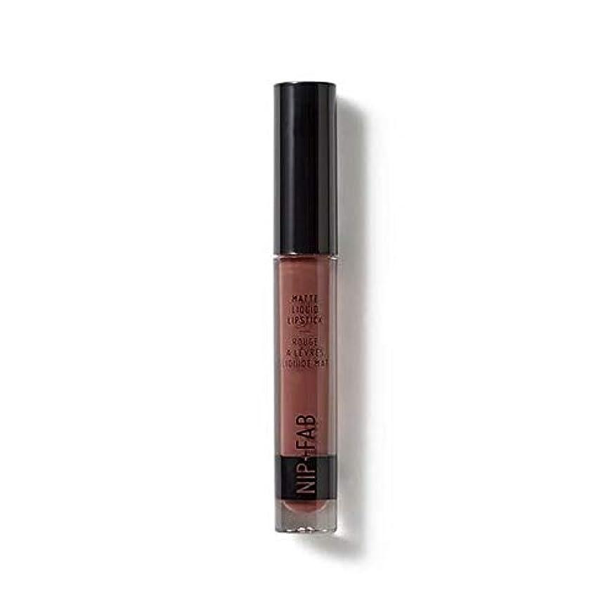 暴露さまよう花[Nip & Fab ] マット液状口紅2.6ミリリットルブラウニー50を構成するFab +ニップ - NIP+FAB Make Up Matte Liquid Lipstick 2.6ml Brownie 50 [並行輸入品]