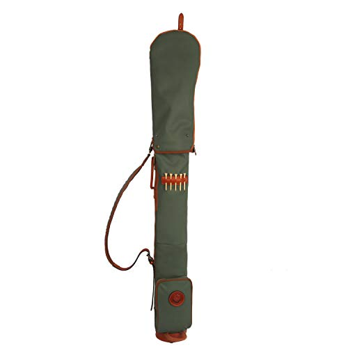 TOURBON Waterproof Canvas Course Training Practice Golf Club Carry Bag Travel Case With Soft Padded Shoulder Strap (Golf Bag TB904CA-Green)