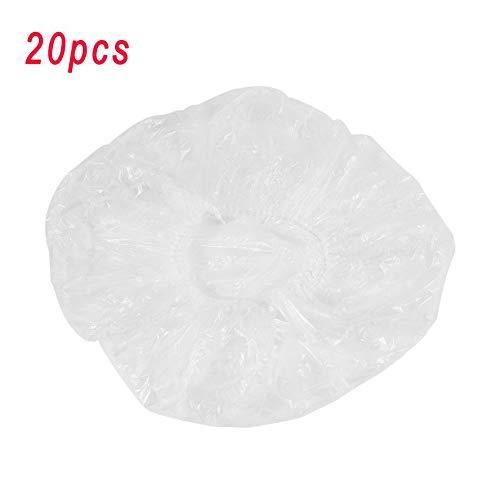 RoxTop Spa jetable clair Salon de coiffure Accueil Douche Bain élastiques Cap 20 Pcs (transparent)