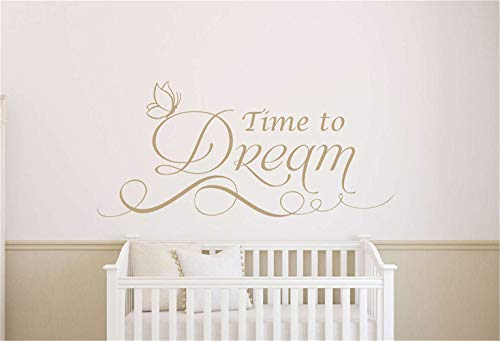 stickers muraux enfants toise time to dream for bedroom nursery kids room