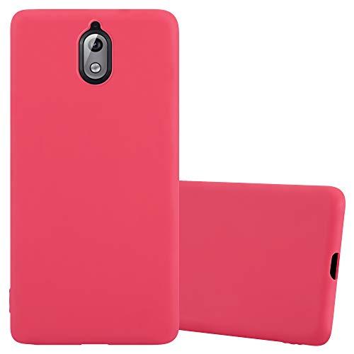 Cadorabo Funda para Nokia 3.1 / Nokia 3 2018 en Candy Rojo - Cubierta Proteccíon de Silicona TPU Delgada e Flexible con Antichoque - Gel Case Cover Carcasa Ligera