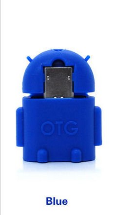 KRS A1 Blau - USB OTG Robot - otg Adapter Micro-USB-Stecker Typ B / USB-Kupplung Buchse Typ A OTG Android Roboter Robot -USB Adapter für Huawei Ascend Mate Mate 2 P6 P6S Samsung Galaxy S2 I9100 I9105P S3 I9300 I9305 Note Sony Xperia Z1 L39h Z1f Honami Mini Compact ZL L35i Tablet Z Huawei Medi Pad Honor 6 7 (Blau)