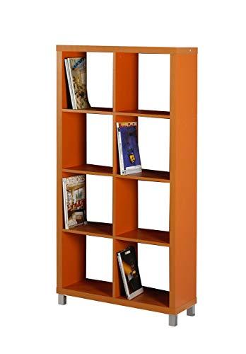 """Kit Closet Estantería  """"Kubox"""" 8 huecos, Naranja"""