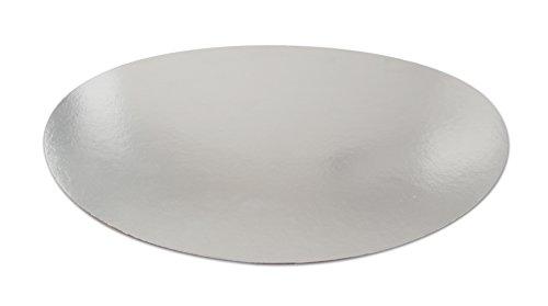 Dr. Oetker Tortenunterlage  Ø 28 cm, 8er-Set aus beschichtetem Karton, geeignet zum stilvollen Servieren, Präsentieren und Transportieren von Kuchen und Torten, lebensmittelecht, (Farbe: silber), Menge: 8 Stück