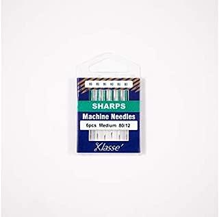 Klasse Sharps Needles, Size 80/12, 1 Pack, 6pcs, AA5105.080