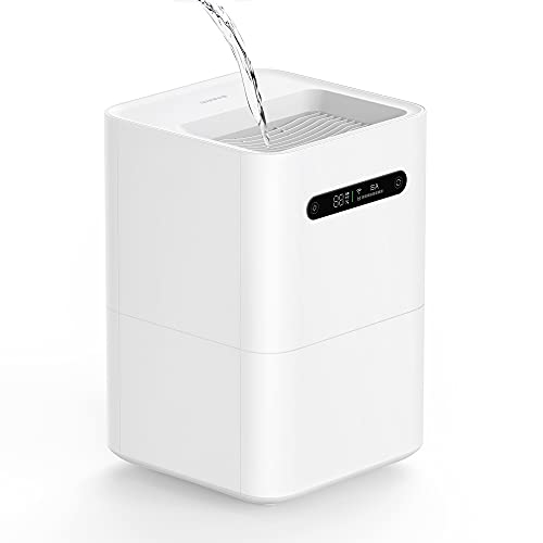smartmi Humidifiers Evaporative, Cool No Mist Humidifiers for Bedroom, Air Humidifiers for Baby, 4L Top Fill, Self-Cleaning, Quiet, Smart APP Control, Auto Shutoff, Air-drying, Shockproof