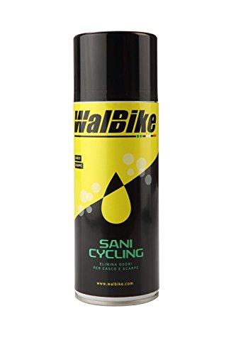 WalBike - SANI Cycling 400 ml - Elimina Odori e Batteri per Casco e Scarpe da Ciclismo
