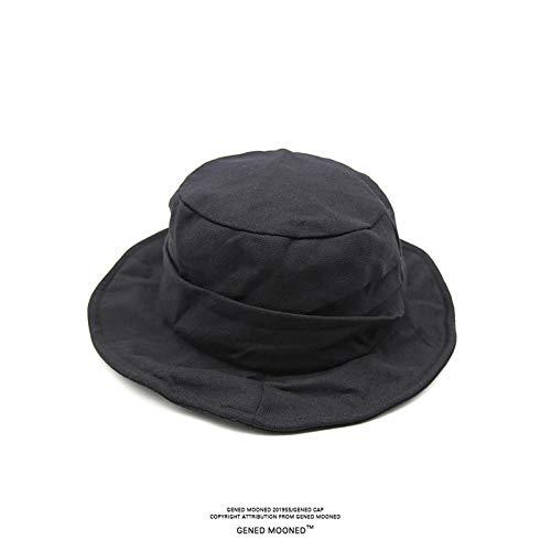 Feizhai Japaner Harajuku Retro-Stil dunkel schwarz faltig große Krempe Fischer Hut Straße Schatten Sonnenbecken Hut Männer und Frauen Flut