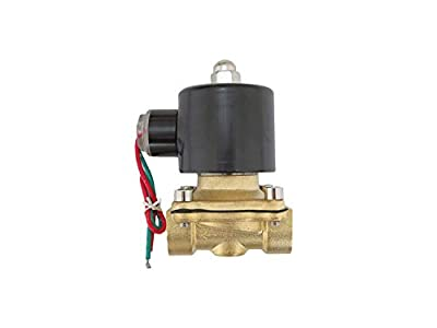 1/2 inch 220V-240V AC VAC Brass Electric Solenoid Valve NPT Gas Water Air NC N/C from CARBEX