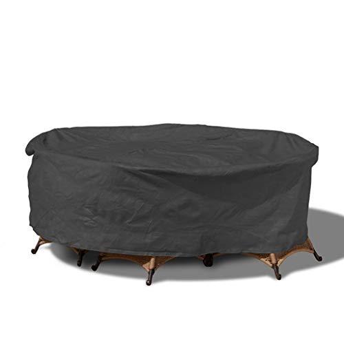 JINJIN Ronda Protector contra el Polvo, Cubierta Impermeable al Aire Libre Muebles de jardín Cubierta de Tela Oxford Redonda Cubierta Muebles de jardín Personalización Profesional
