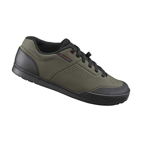 SHIMANO SH-GR501 Mens's Affordable Flat Pedal Downhill Shoe, Olive, 41