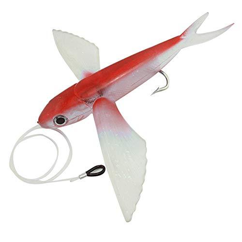 0Miaxudh Señuelos de Pesca, Barco de Agua de mar, cebos de Pesca, alas Grandes, Peces voladores, cebos de atún, Aparejos de señuelos Suaves
