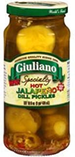 Generic Giuliano Specialty Hot Jalapeno Dill Pickles 16 OZ (Pack of 12)