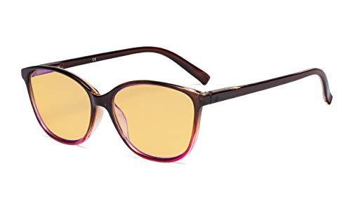 Eyekepper Dames computer glazen UV 420 bescherming bril-blauw licht filter grote kattenoog stijlvol lezen bril vrouw