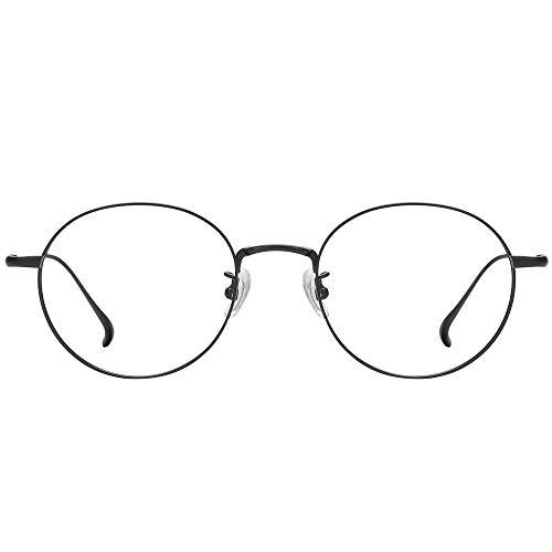 TARO レイバン 軽量チタン メガネ フレーム 【UVカット】 サングラス 近赤外線カット/ブルーライトカット <高性能レンズ> (黒)