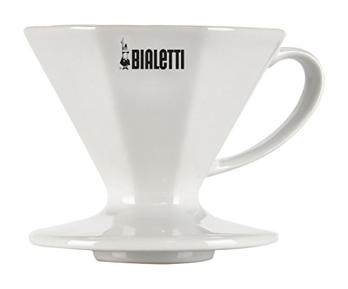 Bialetti White Ceramic Coffee Pourover Dripper