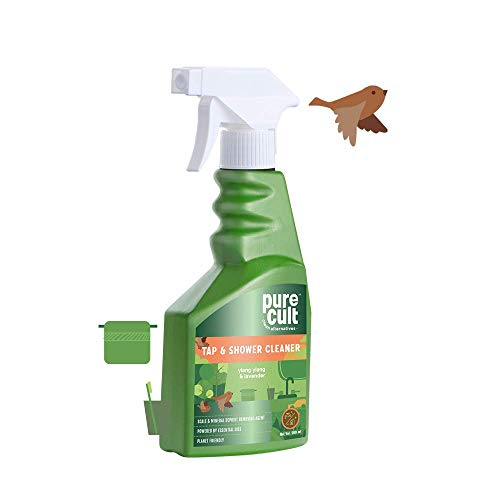Pure Cult Tap and Shower Cleaner (500ml) with Ylang-Ylang & Lavender Essential Oils- Eco Friendly and Biodegradable - Kids and Pet Friendly