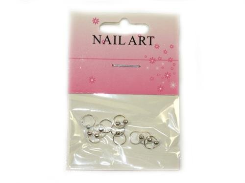 10 Stück Nail Art PIERCING Dangle Farbe : Silber D23