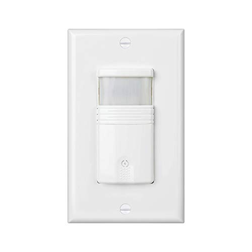 (Pack of 2) White 3-Way (Not Single Pole) Motion Sensor Light Switch – NEUTRAL Wire Required – For Indoor Use – Vacancy & Occupancy Modes – Title 24, UL Certified – Adjustable Timer