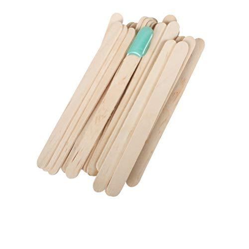 Borstu spatule en Bois Cire 50 pièces spatules de Cire Bricolage épilation Artisanat bâtons épilation bâton pour appliquer la crème de Cire et la pâte de Sucre