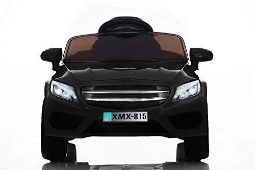 Babycar Auto per Bambini Macchina Elettrica per Bambini Babyfun Nera Batteria 12 Volt con Telecomando 2.4 GHz Porte Apribili con MP3