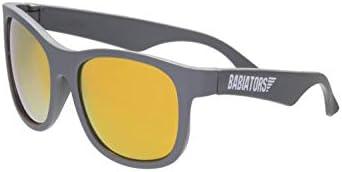 Babiators Blue Series Polarized Baby Toddler Kids Sunglasses Grey Navigator Orange Mirror 3 product image
