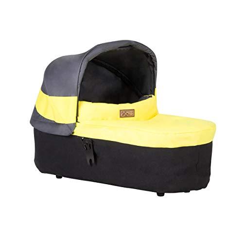 Mountain Buggy Babyschale carrycot V3.2 für Mountain Buggy Urban Jungle 3, Terrain 3, plus One 3 - solus grau/gelb