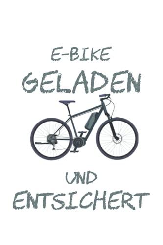 Vélo électrique chargé et déverrouillé disant cycliste: Journal de cahier doublé, à faire une liste, de l'exercice ou du journal (15, 24 x 22, 86 cm) avec 120 pages