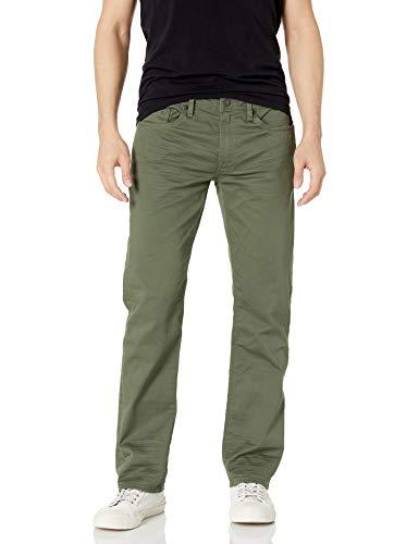 Buffalo David Bitton Men's Straight Six Jeans, Army Green, 30W x 30L