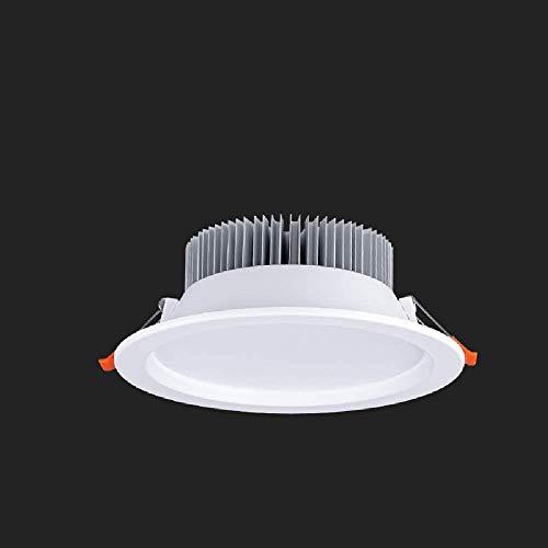 Wlnnes 5W / 7W / 9W / 12W / 18W / 24W LED Luces de techo empotrados IP44 Resalte Simplicity Hogar Downlight Blanco 82RA Redondo de aluminio Empotrado Downlight Panel de interior Linterna de techo