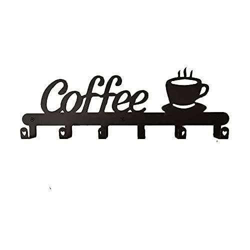 Fauge Soporte para Taza de Café Montado en Pared, Letrero DecoracióN para Barra de Café,Soportes para Estantes para Tazas de Café, Colgador de Taza Signo Café,Perchero para Tazas de Café
