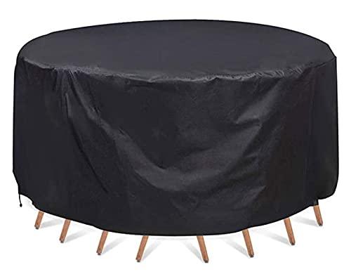 LWXTY Impermeable Ronde Housse De Protection pour Mobilier De Jardin, Bache De Protection en Tissue Oxford, pour Table Et Chaise Meubles D'Extérieur, 210D Oxford,120x75cm/4x2ft