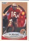 1990 Fleer #10A Joe Montana ERR/(31,054 TD's)...