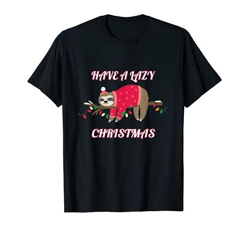 Regalo divertente di Natale bradipo Maglietta