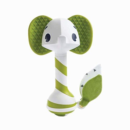 Tiny Love Sonajero mordedor bebé, multiactivitad, adecuado para la dentición, Fácil de agarrar, sin BPA, Color Verde