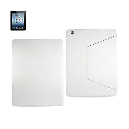 Reiko fc07-ipad 3gllyw Handschuh Montage Fall mit Trapez Clip für iPad 3–Parent Leder Weiß